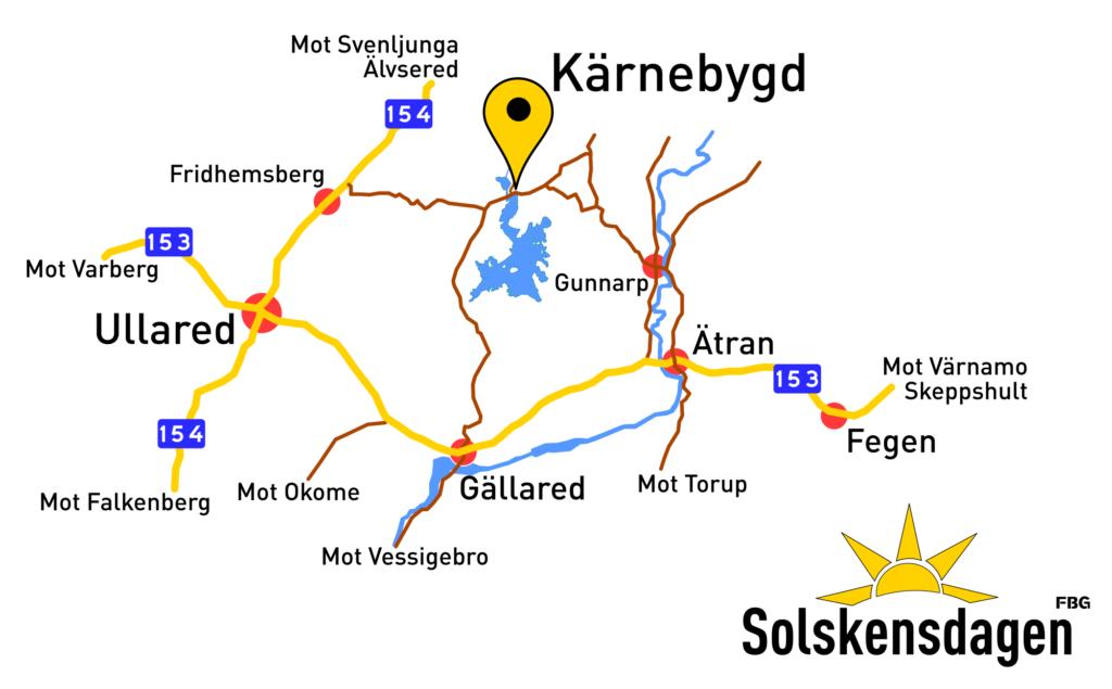 Karta till Solskensdagen 2019